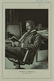 Author photo. F. Nelson Doubleday. Courtesy of the <a href=&quot;http://digitalgallery.nypl.org/nypldigital/dgkeysearchdetail.cfm?strucID=571049&imageID=12236901&quot;> NYPL Digital Gallery </a> (image use requires permission from the New York Public Library)
