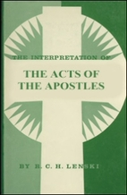 The Interpretation of the Acts of the…