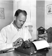 Author photo. Author Archie Binns, 1944.