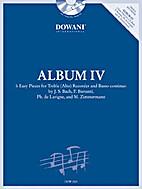 ALBUM IV FOR TREBLE (ALTO) RECOREDER AND…