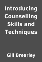 Introducing Counselling Skills and…