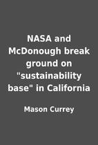 NASA and McDonough break ground on…
