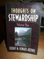 Thoughts on Stewardship by Rodney M.…