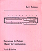 Resources for Music Theory and Composition…
