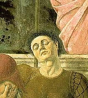 Author photo. Self Portrait (detail of Resurrection)