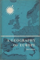 A geography of Europe by Jean Gottmann