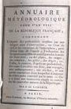 Annuaire météorologique by Jean-Baptiste…