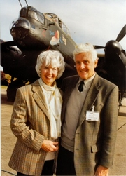 Author photo. Brian Goulding with wife at East Kirkby.