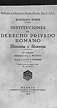 Instituciones de derecho privado romano :…