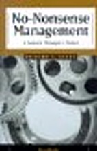 No-Nonsense Management: A General…