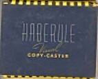 Haberule visual copy-caster by Max A Haber