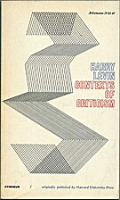 Contexts of criticism by Harry Levin