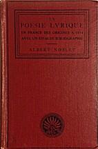 La poésie lyrique en France des origines à…