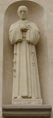 Author photo. Sculpture of Maximilian Maria Kolbe from Saint Joseph's Church, Muszyna, Poland.  Photo by Krzysztof Burghardt / Polish Wikipedia.