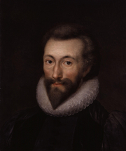 Author photo. John Donne, late 17th century copy of a 1616 work by Isaac Oliver (died 1622)