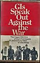 GIs speak out against the war; the case of…