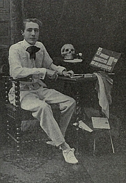 Author photo. Image from <b><i>Sleights</i></b> (1914) by Burling Hull