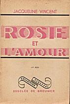 Rosie et l'amour by Jacqueline Vincent