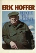 Before the Sabbath by Eric Hoffer