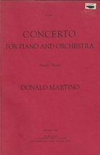 Concerto for Piano and Orchestra by Donald…