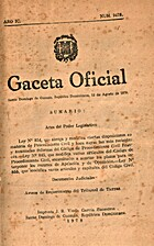 Gaceta Oficial: Santo Domingo de Guzmán, 12…