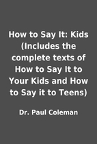 How to Say It: Kids (Includes the complete…