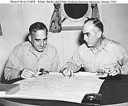 Author photo. Daniel E. Barbey (Left) ~ U.S. Naval Historical Center