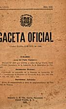 Gaceta Oficial: Ciudad Trujillo, 2 de julio…
