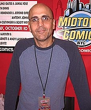 Author photo. Arcudi at the New York Comic Convention in Manhattan, October 10, 2010.