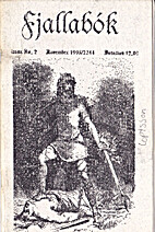 Fjallabok Number 2 November 1993 by…