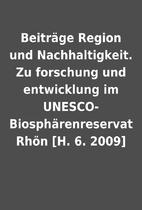 Beiträge Region und Nachhaltigkeit. Zu…