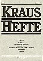 Kraus-Hefte 69 (1994)
