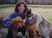 Author photo. Kat Albrecht, with Chase, A.J., and Rachel