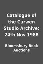 Catalogue of the Curwen Studio Archive: 24th…