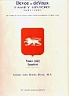 Devoe, deVaux family history, 1691-1991 :…
