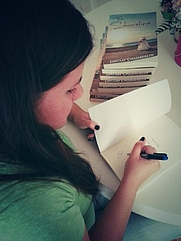 """Author photo. Signing my new release """"The Shoreline""""."""