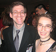 Author photo. With wife Naomi Novik at the 2006 <br>Nebula Awards held in New York City, 2007 <br>Copyright © 2007 <a href=&quot;http://ronhogan.tumblr.com&quot;>Ron Hogan</a>