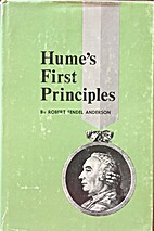 Hume's First Principles by Robert Fendel…
