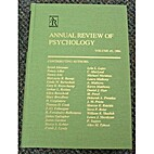 Annual Review of Psychology: 1985 by Mark R.…