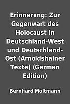 Erinnerung: Zur Gegenwart des Holocaust in…