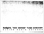 Knight 600 Series Tube Checker by Allied…