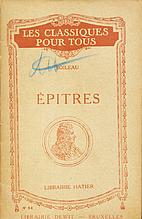 Epitres by Nicolas Boileau-Despréaux