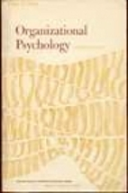 Organizational Psychology by Edgar H. Schein