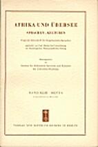 Afrika und Übersee 43 (1959) 4: 241-320