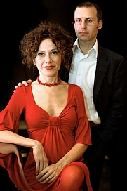 Author photo. Rita Monaldi & Francesco P. Sorti