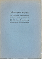 In retrospect, 1923-1949; an exhibition…