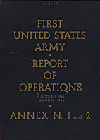 First United States Army Report of…