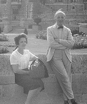 Author photo. Roberto Weiss in Rome with his sister
