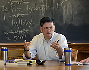 Author photo. Sergio Troncoso at his Fiction Workshop for the Yale Writers' Conference in New Haven, Connecticut.