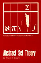 Abstract set theory by Thoralf A. Skolem